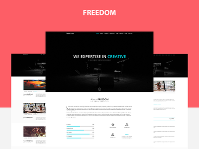 Freedom PSD Template onepage freedom psd template