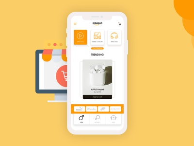 Amazon Home Screen home screen ios design amazon online shopping app android