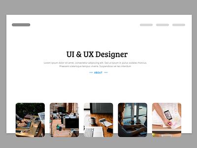 Header design ui template work header portfolio