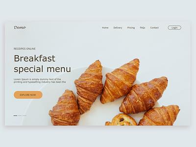 Restaurant Landing Page Design design ui