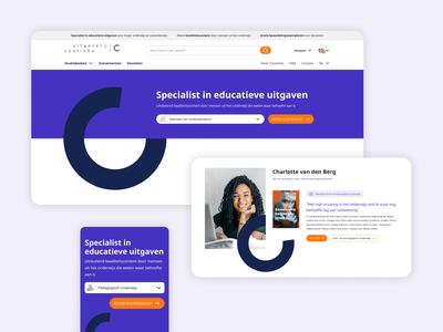 Coutinho round shapes cocreation study books author magento2 magento webshop clean blue webdesign design principles design concepting branding ux design book publisher study books publisher