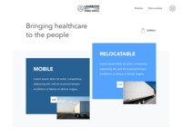Clean blue webdesign