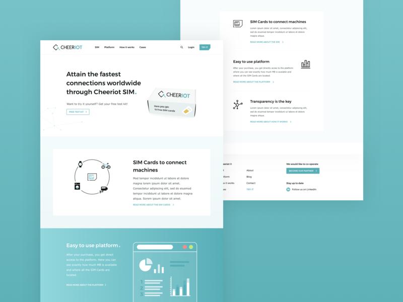 Cheeriot simcards white icons illustrations data gradient blue design logo logo design webdesign