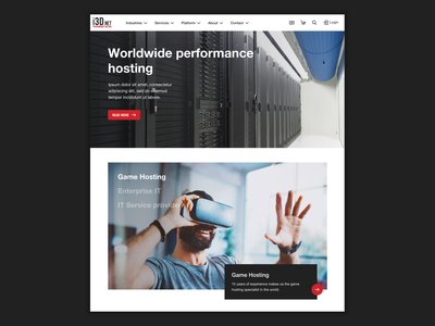 i3D.net Performance Hosting design gaming game desktop webdesign web server keyvisual hero image hero big service services hosting data black clean dark