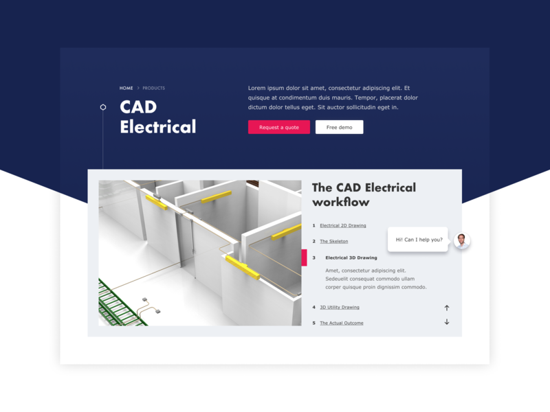 CAD producer Pitch website design quote clients testimonials content contact person contact personal chat tabs module tabs module contentslider bright clean pink red blue technical