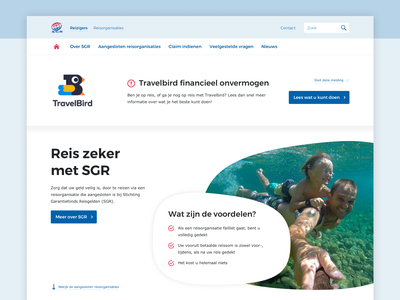 SGR homepage travel quality mark home homepage webdesign web questions question benefits travel agency round round element big clean white sea blue quality mark travel sgr