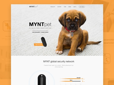 Pet anti lost website app landing marketing page ui web pet