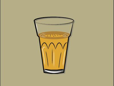 Tea glass tea design brading art logo illustration graphic design adobe
