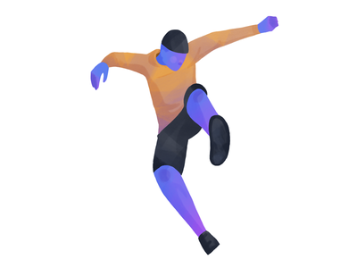 Dynamic 2 dynamic pose illustration ipad ipad pro procreate drawing character man texture gradient
