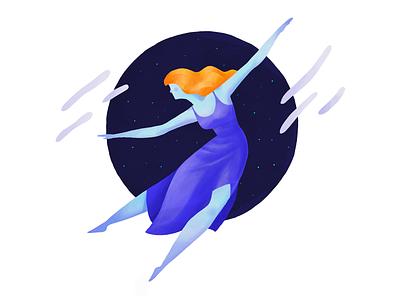 Dynamic 8 gradient texture dancing girl character drawing procreate ipad pro shahnawaz illustration pose dynamic