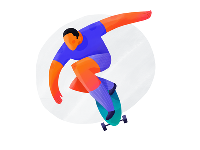 Dynamic 9 gradient texture man character drawing procreate ipad pro ipad illustration pose dynamic