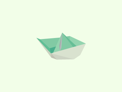 A More Detailed Abstraction Of My Original Paper Boat Logo
