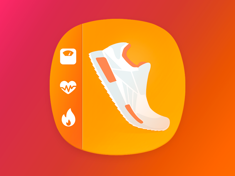 Pedometer Step Counter Main Icon step pedometer counter calorie workout sport fitness weight weight loss icon