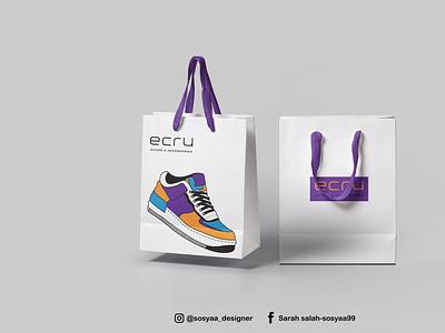 """Bag Design """"ECRU"""" designer art typography vector illustration design des logo branding graphic design"""