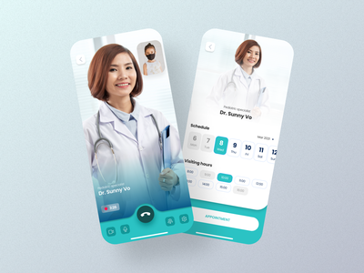 Medical app - Mobile App video call appoiment covid-19 vaccine doctor medical