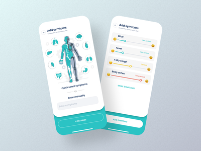 Symptoms tracking - Medical app - Mobile App mobile app dizzy sick data tracking symptoms doctor medicine medical