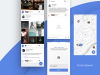Social network mobile app - Timeline