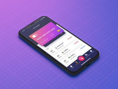 The wallet - Personal finance new version ! iphone mockup ux ui cc creadit card account wallet