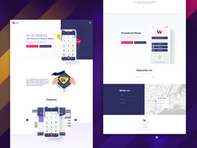 Landing page - finance solution on mobile. web monbile e commerce wallet finance home illustration home page landing page