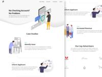 Finance marketing website