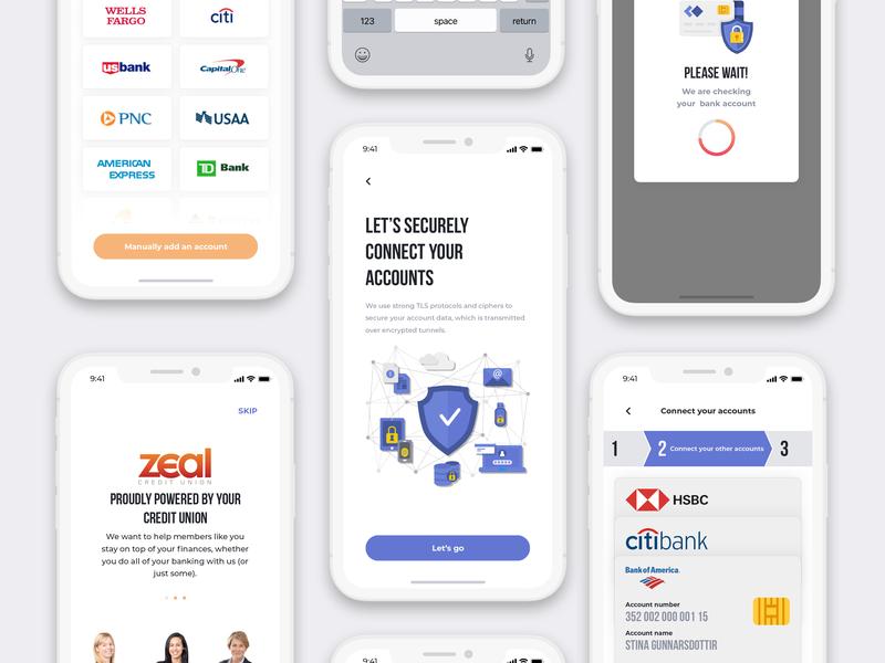 Credit union wallet app design app mobile app mobile ui modal banking app step credit union creditcard bank