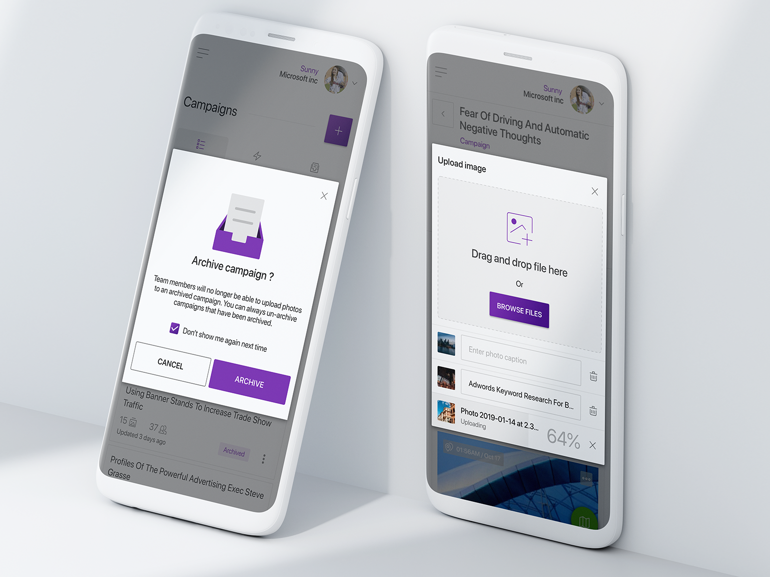 Mobile web dialog by Tung Chi Vo on Dribbble