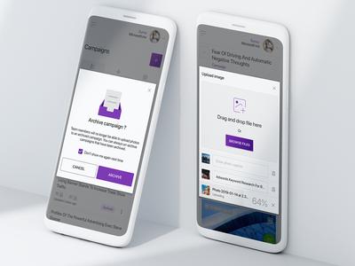 Mobile web dialog