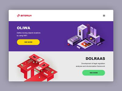 Web page for Biterium minimal web design ux banner photoshop dribbblers ui branding illustration 2d design