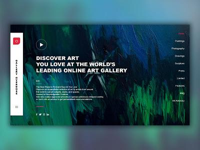 Online Gallery composition photoshop 2d typography ux dribbblers illustration branding ui design