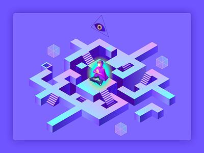 For Unipay purple design for web labirinth inhuman maze ui forgot password 2d illustration