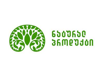Logo of  Natural Product design art logo a day dribbblers tree grass vector brending n logo alphabet design product natural green logo