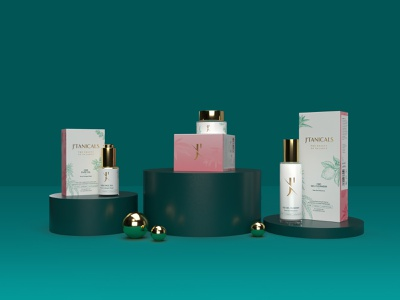 Cosmetic Products - 3D Design mockup packaging logo branding graphic design 3d