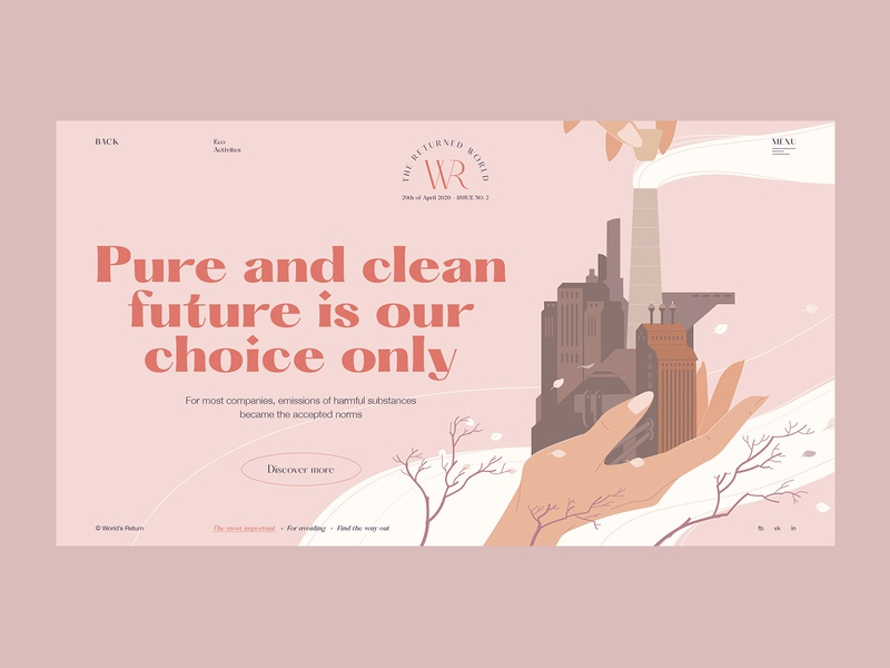 Clean future art art direction self promotion ecology creative magazine design branding illustration dribbble promo web projects