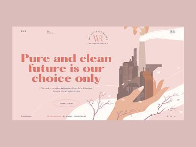 Clean future art art direction self promotion ecology creative magazine design branding illustration dribbble promo web projects