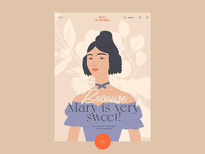 Mary gerl mary principle web design animation illustration