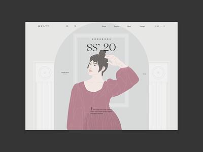 Ovate — LookBook Page projects illustration web ui ovate