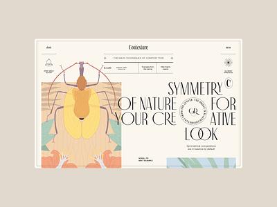 Contexture — Main Page (Symmetry) design ui web illustration
