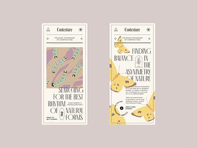 Contexture — Mobile Screens (Rhythm) design ui web illustration