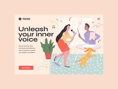 Sound Inside — Main Page design ui web illustration