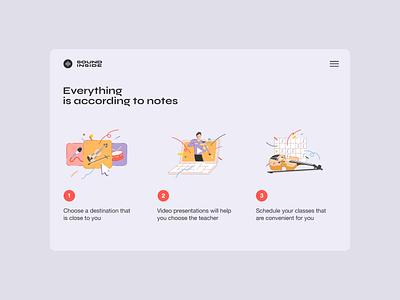 Sound Inside — How it Works Page ux page sound design illustration ui web
