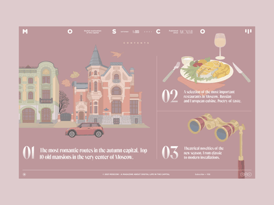 Moscow — Contents Page magazine ux ui capital moscow design web illustration