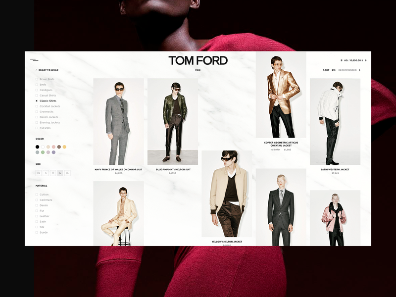 TOM FORD — RDY T WR dribbble best shot best design dribbble portfolio promo ui design web projects