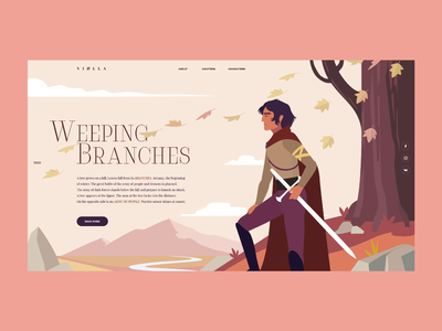 Weeping Branches character dribbble vector animation motion flat art illustration ui design projects