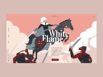 White Flame art motion flat typography vector illustration ui web design projects