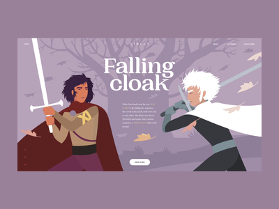 Falling Cloak dribbble art motion art motion flat ui typography branding vector illustration design web projects