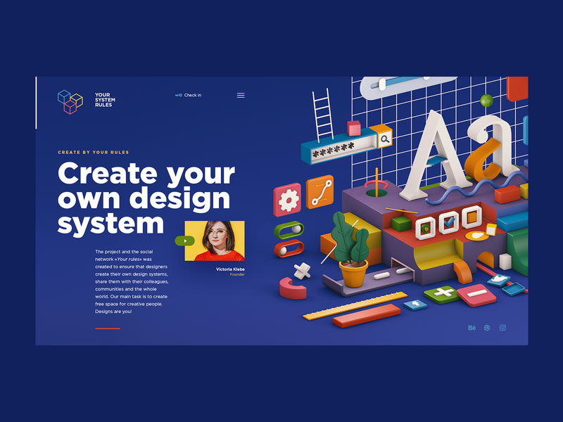 Your System Rules concept lowpoly isometric c4d cinema4d 3d 3d art illustration design projects