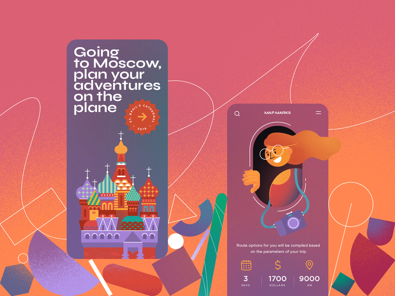 Going to Moscow ux typography branding illustration logo dribbble ui design web projects