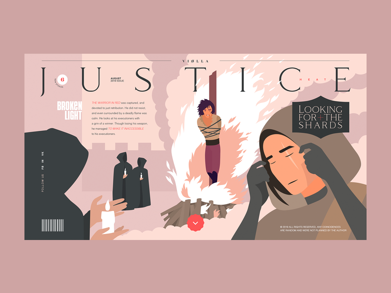 The Heat Of Justice promo character typogaphy flat art web dribbble design illustration projects