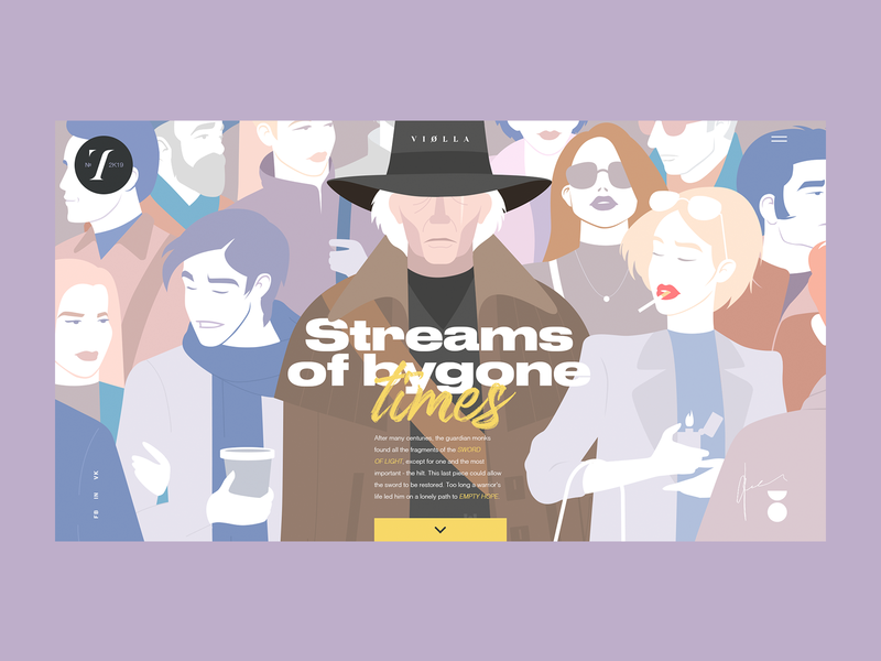 Streams Of Bygone Times ux typography branding dribbble ui illustration web design projects
