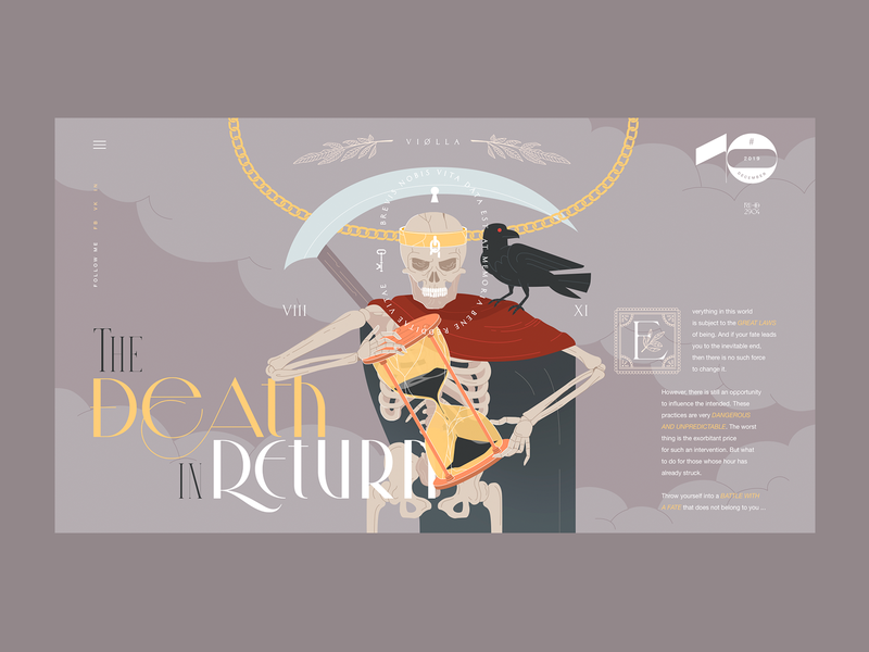 Death in Return 10 promo typography web projects design ux branding ui illustration